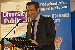 Pictured: Foysol Choudhury, MBE, Edinburgh and Lothians Regional Equality Council chair<br /> <br /> SNP Brexit minister Mike Russell spoke at an Edinburgh and Lothians Regional Equality Council event which aimed to facilitate discussion between service providers in the public and third sectors, and asylum seekers and refugees in order to hear about the circumstances and needs.<br /> <br /> Ger Harley   EEm 6 December 2016