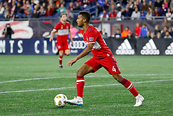 September 22, 2018 - Foxborough, MA, U.S. - FOXBOROUGH, MA - SEPTEMBER 22: Chicago Fire defender Johan Kappelhof (4) looks to clear the ball during a match between the New England Revolution and the Chicago Fire on September 22, 2018, at Gillette Stadium in Foxborough, Massachusetts. The teams played to a 2-2 draw. (Photo by Fred Kfoury III/Icon Sportswire) (Credit Image: © Fred Kfoury Iii/Icon SMI via ZUMA Press)