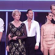 NLD/Hilversum/20120901 - 2de liveshow AVRO Strictly Come Dancing 2012, Ria Valk en danspartner, Mark van Eeuwen en danspartner Jessica Maybury