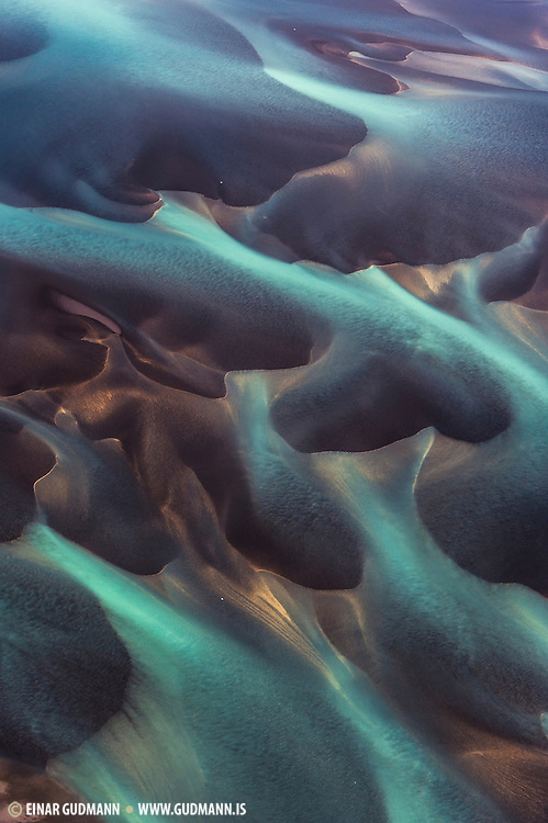 Aearial photography over Iceland.