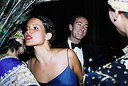 Mrs. Andy Wong, Sophie Anderton and Robert Hanson. Wong party. Old  Royal Naval College, Greenwich. 3/2/01. © Copyright Photograph by Dafydd Jones 66 Stockwell Park Rd. London SW9 0DA Tel 020 7733 0108 www.dafjones.com
