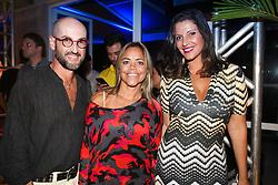 Miltinho Talaveira, Paulinha  Moraes e Pati Leivas  na festa de inauguração do Viva Open Mall. FOTO: Dani Barcellos/ Agência Preview