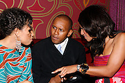 Jurnee Smolett, Congressional Candidate Kevin Powell and Maalak Compton Rock at An evening with Dave Chappelle for Kevin Powell for Congress held at Eugene's on July 9, 2008..Kevin Powell runs as a Democratic Candidate for Congress in Brooklyn's 10th Congressional District