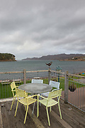 Shieldaig bar and costal kitchen, overlooking Loch Shieldaig, on the 4th November 2018 in Shieldaig, Scotland in the United Kingdom. Shieldaig is a village in Wester Ross in the Northwest Highlands of Scotland.