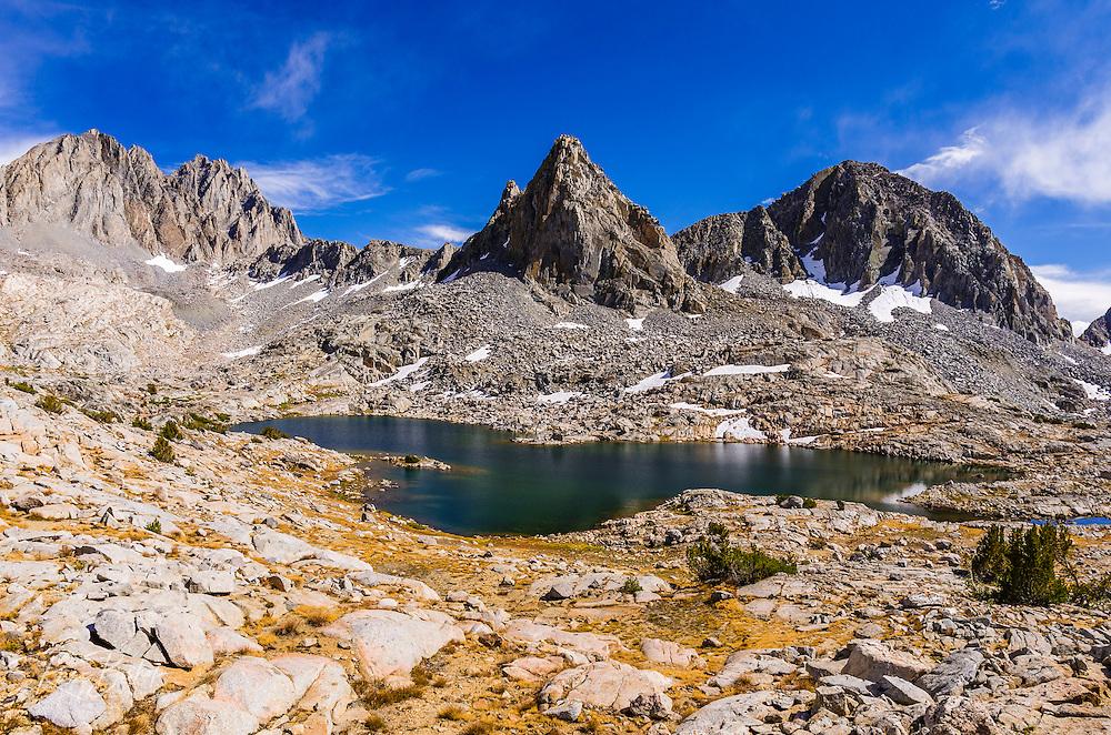 Isosceles Peak and the Palisades in Dusy Basin, Kings Canyon National Park, California USA