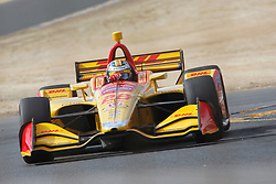 September 14, 2018 - Sonoma, CA, U.S. - SONOMA, CA - SEPTEMBER 14: Ryah Hunter-Reay at speed during the afternoon Verizon IndyCar Series practice for the Grand Prix of Sonoma on September 14, 2018, at Sonoma Raceway in Sonoma, CA. (Photo by Larry Placido/Icon Sportswire) (Credit Image: © Larry Placido/Icon SMI via ZUMA Press)