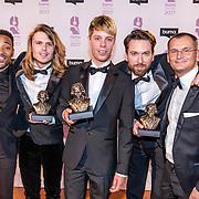 NLD/Hilversum//20170306 - uitreiking Buma Awards 2017, Cimo Fränkel, Jordy Huisman, Rik Annema en Sander Huisman en Eelko van Kooten worden tijdens de Buma Awards onderscheiden met een Buma Award International