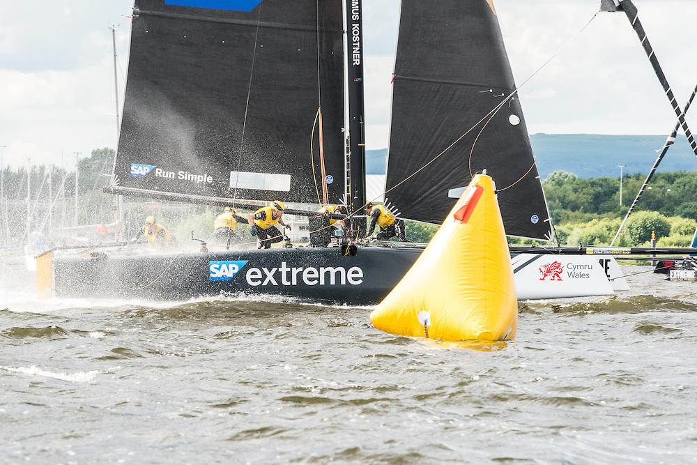 SAP EXTREME SAILING TEAM<br /> (DEN)<br /> Match racing experts and co-skippers Jes Gram-Hansen and Rasmus Køstner front the only Danish flagged team in the circuit, SAP Extreme Sailing Team. Backed by world-leading software and software-services provider SAP who is also the Series' official Technical Partner, the team enters its fifth season in 2016. Securing a place on the podium in 2015, the team chases its ultimate goal of Series victory this year. Now in its tenth season in 2016, the award-winning and adrenaline-fueled global Series has given the sport of sailing a healthy dusting-off. Bringing the action to the public with Stadium Sailing, putting guests at the heart of the battle and dramatically increasing the pace on the water, the creators of the Extreme Sailing Series™ have set new standards, both in terms of high level competition and sporting entertainment. With a new fleet of hydro-foiling GC32s replacing the Extreme 40 for the 2016 season the Extreme Sailing Series™ looks set to be another fast-paced and thrilling year.