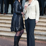 NLD/Amsterdam/20130409 - Prinses Maxima houdt toespraak conferentie The Currency Exchange Fund,