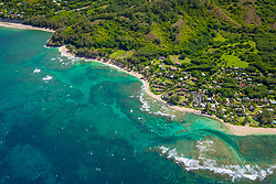 Kepuhi Beach and coral reef, North Shore, Kauai, Hawaii, USA, Pacific Ocean
