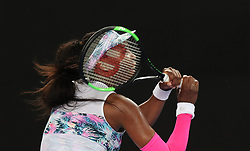 MELBOURNE, Jan. 17, 2019  Venus Williams of the United States returns the ball during the women's singles second round match against Alize Cornet of France at the Australian Open in Melbourne, Australia, Jan. 17, 2019. (Credit Image: © Bai Xuefei/Xinhua via ZUMA Wire)