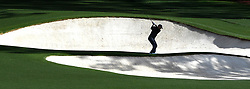 April 6, 2017 - Augusta, GA, USA - Russell Henley hits from a sand bunker along the 8th fairway during first-round action of the Masters Tournament at Augusta National Golf Club on Thursday, April 6, 2017, in Augusta, Ga. Henley finished the round at -1. (Credit Image: © Jeff Siner/TNS via ZUMA Wire)