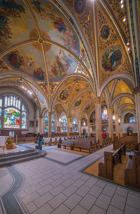 St. Edmund Church, 188 S. Oak Park Ave., Oak Park, Illinois, Interior, Architectural imagery by Kevin Eatinger.  Digital photography.