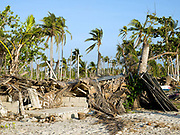 A house destroyed by Typhoon Haiyan, Santa Fe, Bantayan Island, The Philippines. On November 6 2013 Typhoon Haiyan hit the Philippines and was one of the most powerful storms to ever make landfall. The storm had a devastating impact on the fishing and seaweed industry and caused extensive environmental damage which will have a long term impact on ecosystems and the communities who rely on them for food and employment. Oxfam is working to support the immediate and long-term needs of affected communities on Bantayan Island.