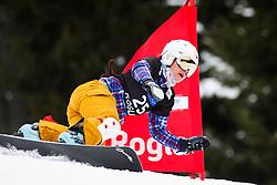 Ekaterina Ilyukhina (RUS) competes during Qualification Run of Women's Parallel Giant Slalom at FIS Snowboard World Cup Rogla 2016, on January 23, 2016 in Course Jasa, Rogla, Slovenia. Photo by Ziga Zupan / Sportida