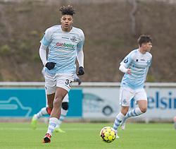 Anosike Ementa (FC Helsingør) under træningskampen mellem FC Helsingør og Fremad Amager den 18. januar 2020 på Helsingør Ny Stadion (Foto: Claus Birch)