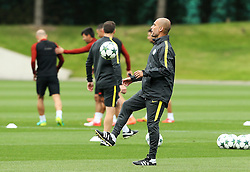 Manchester City manager Pep Guardiola  - Mandatory by-line: Matt McNulty/JMP - 12/09/2016 - FOOTBALL - Manchester City - Training session ahead of Champions League Group C match against Borussia Monchengladbach