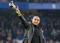 Football - 2016 / 2017 Premier League - Chelsea vs. Stoke City <br /> <br /> Former Chelsea player Mark Stein takes a lap of honour during the half time interval at Stamford Bridge.<br /> <br /> COLORSPORT/DANIEL BEARHAM