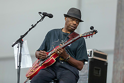 May 3, 2018 - New Orleans, Louisiana, U.S - WALTER 'WOLFMAN' WASHINGTON during 2018 New Orleans Jazz and Heritage Festival at Race Course Fair Grounds in New Orleans, Louisiana (Credit Image: © Daniel DeSlover via ZUMA Wire)