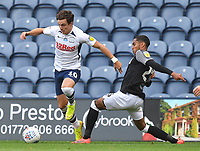 Preston North End's Josh Harrop battles with Derby County's Andre Wisdom<br /> <br /> Photographer Dave Howarth/CameraSport<br /> <br /> The EFL Sky Bet Championship - Preston North End v Derby County - Wednesday 1st July 2020 - Deepdale Stadium - Preston<br /> <br /> World Copyright © 2020 CameraSport. All rights reserved. 43 Linden Ave. Countesthorpe. Leicester. England. LE8 5PG - Tel: +44 (0) 116 277 4147 - admin@camerasport.com - www.camerasport.com