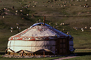 Ger<br /> Bogdkhan Reserve<br /> Near Ulaanbaatar<br /> Mongolia
