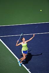 Karolina Pliskova (CZE) during her quarter final round match at the 2018 Indian Wells Masters 1000 at Indian Wells Tennis Garden, California, USA, on March, 14, 2019. Photo by Corinne Dubreuil/ABACAPRESS.COM