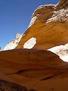 """Melody Arch, in the vicinity of North Coyote Buttes area known as """"The Wave,"""" Vermillion Cliffs National Monument, Arizona, known for its beautiful rock formations."""