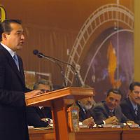 Toluca, Méx.- Luis Miranda Nava, secretario de finanzas del estado de Mexico durante la ceremonia de inauguracion de la reunion nacional de geografia 2004. Agencia MVT / Hernan Vazquez E. (DIGITAL)<br /> <br /> NO ARCHIVAR - NO ARCHIVE