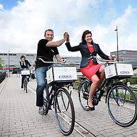 Nederland,Hoofddorp, 18 juni 2015.<br /> Spaarne Gasthuis heeft 5 bedrijfs fietsen aangeschaft.<br /> <br /> <br /> Foto: Jean-Pierre Jans