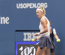 August 31, 2018 - New York, New York, United States - Victoria Azarenka of Belarus reacts during US Open 2018 3rd round match against Sloane Stephens of USA at USTA Billie Jean King National Tennis Center (Credit Image: © Lev Radin/Pacific Press via ZUMA Wire)