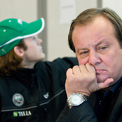 20101123: SLO, Ice Hockey - Press conference of Tilia Olimpija and suspended player Andrej Hebar