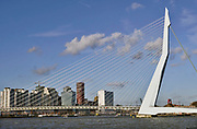 Nederland, Netherlands, Rotterdam, 7-2-2019 Kop van Zuid, wilhelminakade, met hoogbouw. Hotel New York. Kantoorgebouw van de havendienst . Oude en nieuwe architectuur. District Kop van Zuid with high-rise buildings. Building De Rotterdam from architect Rem Koolhaas. Deloitte .FOTO: FLIP FRANSSEN