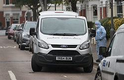 FILE PICTURE © Licensed to London News Pictures. 21/09/2017. London, UK. A private ambulance is seen outside a house belonging to Sabrina Kouider and her partner Ouissem Medouni where police and the fire brigade attended and found the burnt body of their nanny Sophie Lionnet in the garden in Wimbledon, south London. Kouider and Medouni, who are both French nationals, deny murder but have admitted perverting the course of justice by burning the body. Photo credit: Peter Macdiarmid/LNP