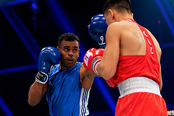 17-11-2019 NED: World Port Boxing Netherlands - Kazakhstan, Rotterdam<br /> 3rd World Port Boxing in Excelsior Stadion Rotterdam / Delano James (NED) against Ablaikhan Zhussupov (KAZ), 69 kg class