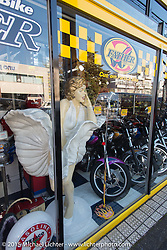 Visit to Z-Father Bōsōzoku motorcycle shop after Mooneyes. Tokyo, Japan. December 8, 2015.  Photography ©2015 Michael Lichter.
