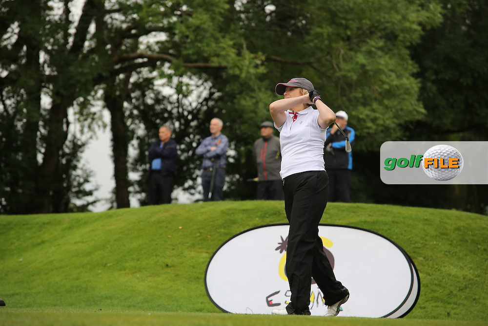 Carol Hill (Mahee Island) during the Ulster Mixed Foursomes Final, Shandon Park Golf Club, Belfast. 19/08/2016<br /> <br /> Picture Jenny Matthews / Golffile.ie<br /> <br /> All photo usage must carry mandatory copyright credit (© Golffile   Jenny Matthews)