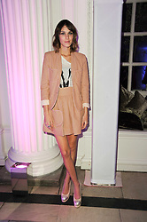 ALEXA CHUNG at a party to celebrate the Mulberry Autumn Winter 2010 collection held at The Orangery, Kensington Palace, London on 21st February 2010.
