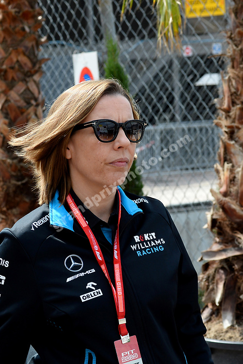 Teamchef Claire Williams after qualifying for the 2019 Monaco Grand Prix. Photo: Grand Prix Photo
