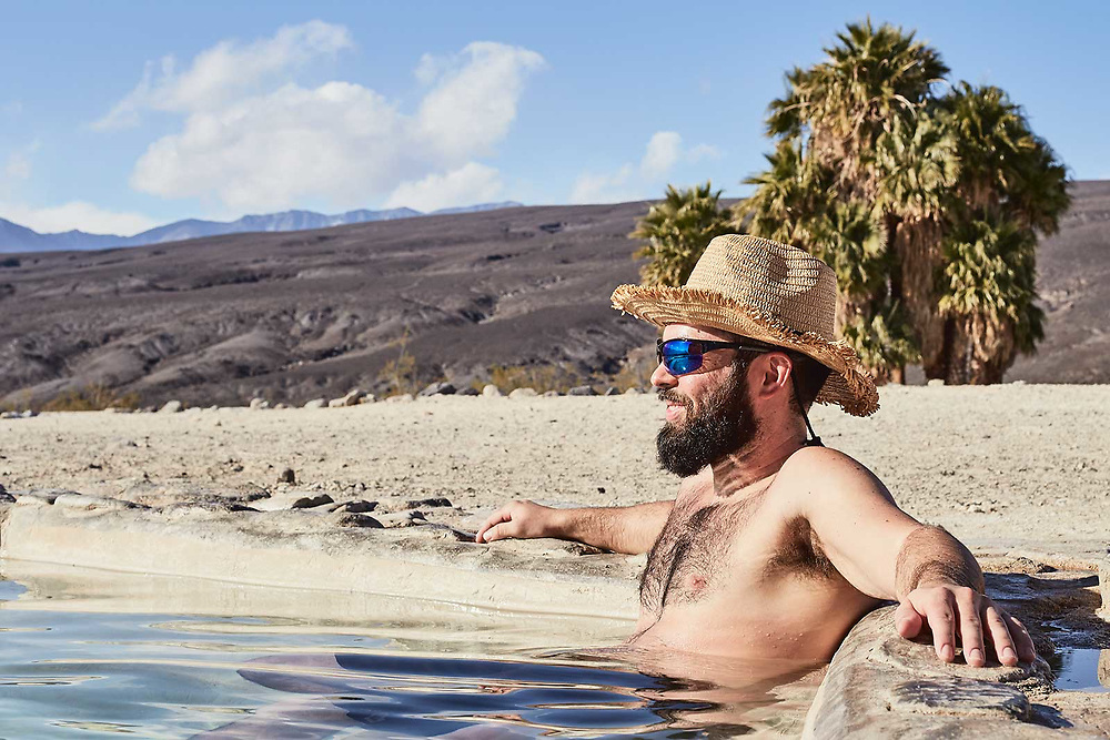 Saline Valley Warm Springs photographed by California lifestyle photographer Raymond Rudolph