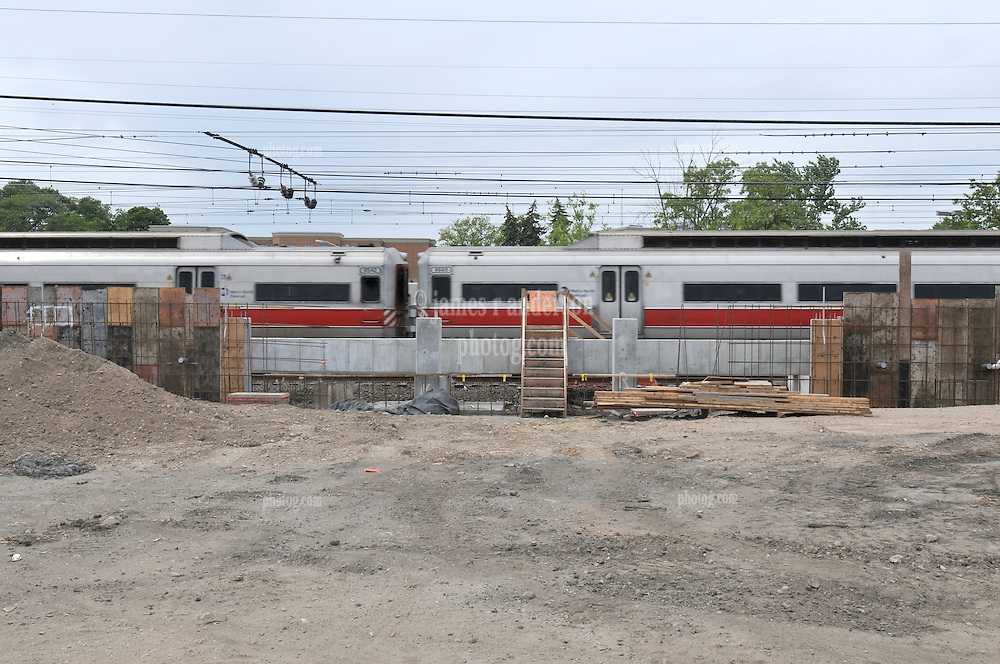 Additional View of Metro-North Commuter Rail Movement taken during Construction Progress Photography of the Railroad Station at Fairfield Metro Center - Site visit 11 of once per month Chronological Documentation.