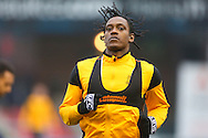 Southend United striker Nile Ranger (50) warms up before the EFL Sky Bet League 1 match between Oldham Athletic and Southend United at Boundary Park, Oldham, England on 17 December 2016. Photo by Simon Brady.