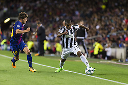 September 12, 2017 - Barcelona, Spain - Douglas Costa and Sergi Roberto during the match between FC Barcelona - Juventus, for the group stage, round 1 of the Champions League, held at Camp Nou Stadium on 12th September 2017 in Barcelona, Spain. (Credit Image: © Urbanandsport/NurPhoto via ZUMA Press)