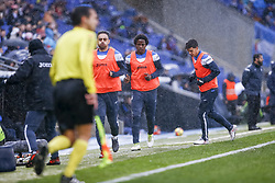 February 4, 2018 - Barcelona, Catalonia, Spain - Carlos Sanchez during the match between RCD Espanyol vs FC Barcelona, for the round 22 of the Liga Santander, played at Cornella -El Prat Stadium on 4th February 2018 in Barcelona, Spain. (Credit Image: © Urbanandsport/NurPhoto via ZUMA Press)