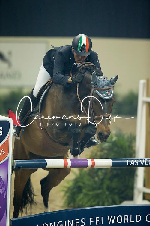 Moneta Luca Maria, (ITA), Connery<br /> Longines FEI World Cup™ Jumping Final III round 1<br /> Las Vegas 2015<br />  © Hippo Foto - Dirk Caremans<br /> 19/04/15
