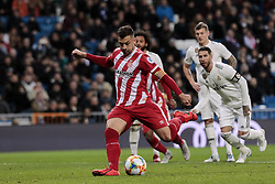 January 24, 2019 - Madrid, Spain - Girona FC's Alex Granell during Copa del Rey match between Real Madrid and Girona FC at Santiago Bernabeu Stadium. (Credit Image: © Legan P. Mace/SOPA Images via ZUMA Wire)
