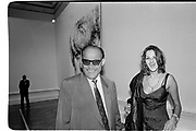 Tracey Emin and her father Endar Emin. Sensation opening. Royal Academy. September 1997. © Copyright Photograph by Dafydd Jones 66 Stockwell Park Rd. London SW9 0DA Tel 020 7733 0108 www.dafjones.com