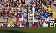 Goal scored by Joe Thompson of Rochdale during the EFL Sky Bet League 1 match between Rochdale and Charlton Athletic at Spotland, Rochdale, England on 5 May 2018. Picture by Paul Thompson.