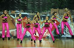 Ukraine, Ukraine at European Cheerleading Championship 2008, on July 5, 2008, in Arena Tivoli, Ljubljana, Slovenia. (Photo by Vid Ponikvar / Sportal Images).