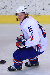 Klemen Kaimel at friendly ice-hockey game between Slovenian National Team U20 and HKMK Bled, before World Championship Division 1, Group A in Herisau, Switzerland, on December 11, 2008, in Bled, Slovenia. (Photo by Vid Ponikvar / Sportida)