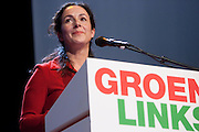 Femke Halsema wordt op de 28e partijcongres van GroenLinks in Vredenburg Leidsche Rijn in Utrecht opnieuw gekozen als lijsttrekker van de partij. <br /> <br /> At the congress Femke Halsema is chosen as party leader of GroenLinks.